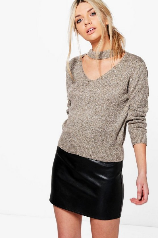 Holly Soft Knit Choker Jumper