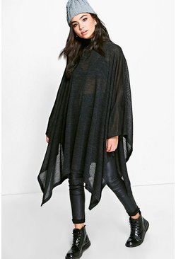 Ava Roll Neck Poncho