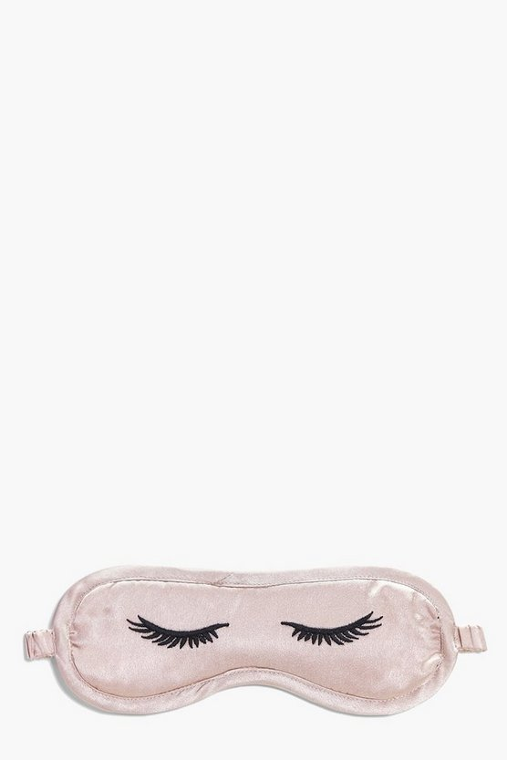 Eyelashes Satin Embroidered Eye Mask