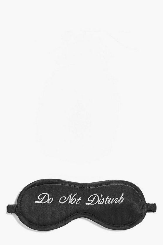 Katie Do Not Disturb Satin Embroidered Eye Mask