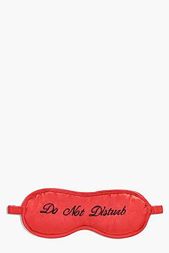 Do Not Disturb Satin Embroidered Eye Mask