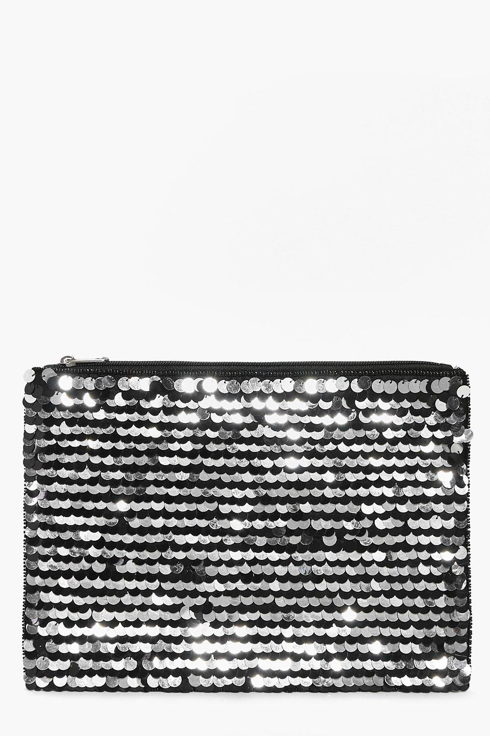 Tia Oversized Sequin Clutch Bag