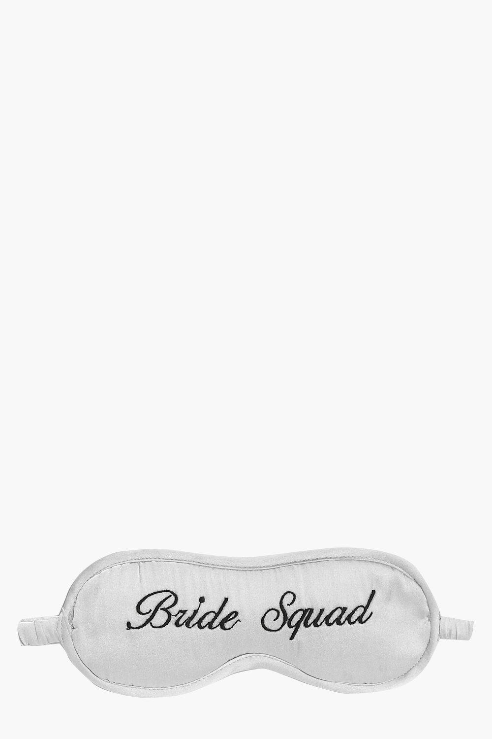 Squad Embroidered Satin Eye Mask - grey - Bride Sq