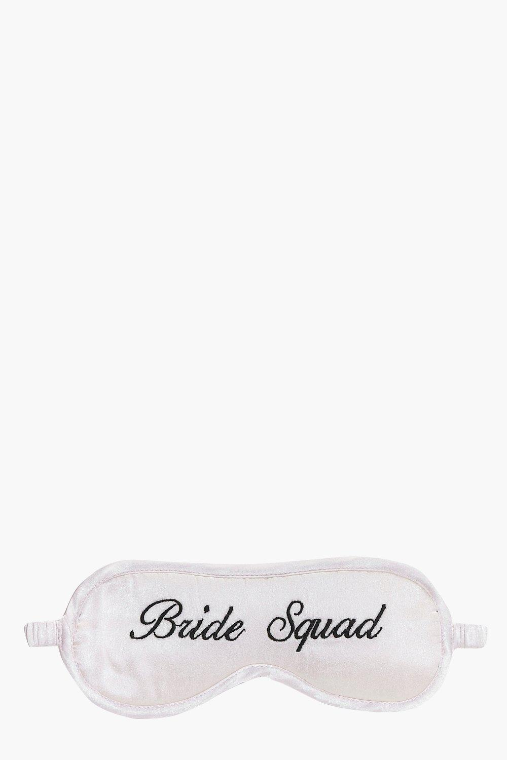Squad Embroidered Satin Eye Mask - nude - Bride Sq