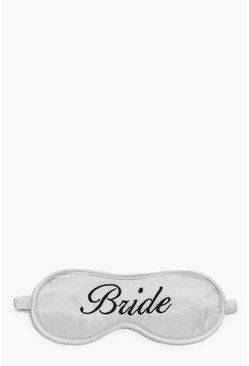 Satin Bride Embroidered Eye Mask