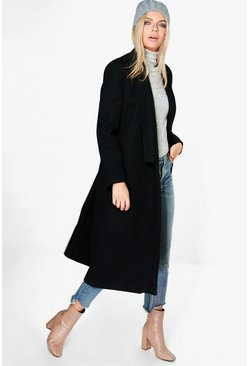 Grace Shawl Collar Wool Coat