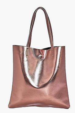 Matilda PU Metallic Shopper Bag