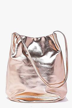 Lois Metallic Origami Top Duffle Bag