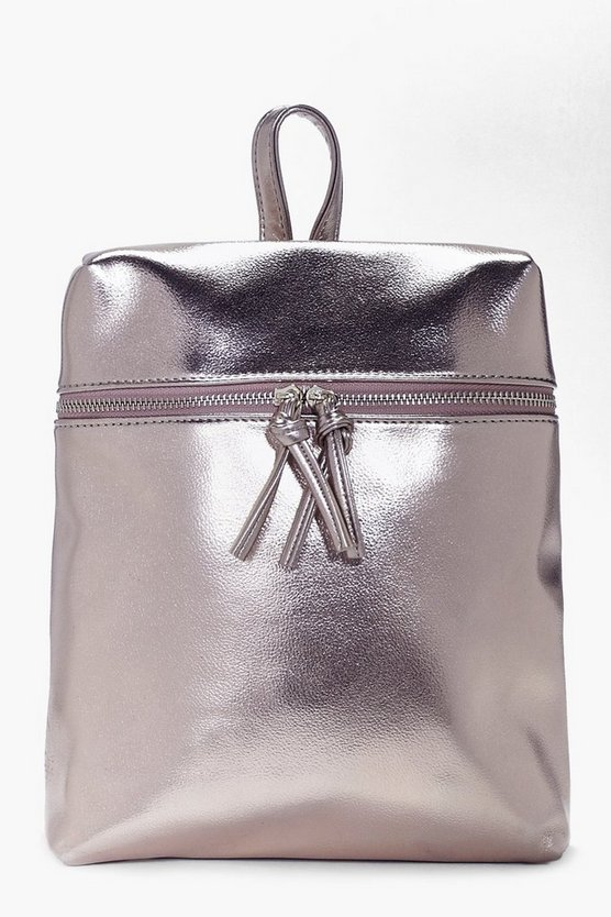 Charlotte Metallic Zip Detail Backpack