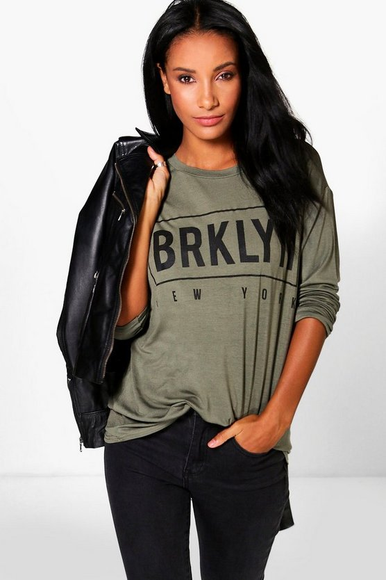 Bernie Long Sleeve Brooklyn Printed Top