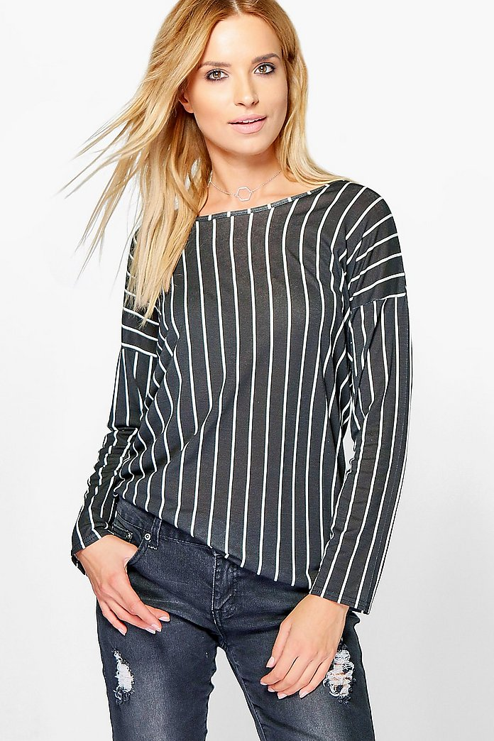 Harriet Oversized Stripe Long Sleeve T-Shirt
