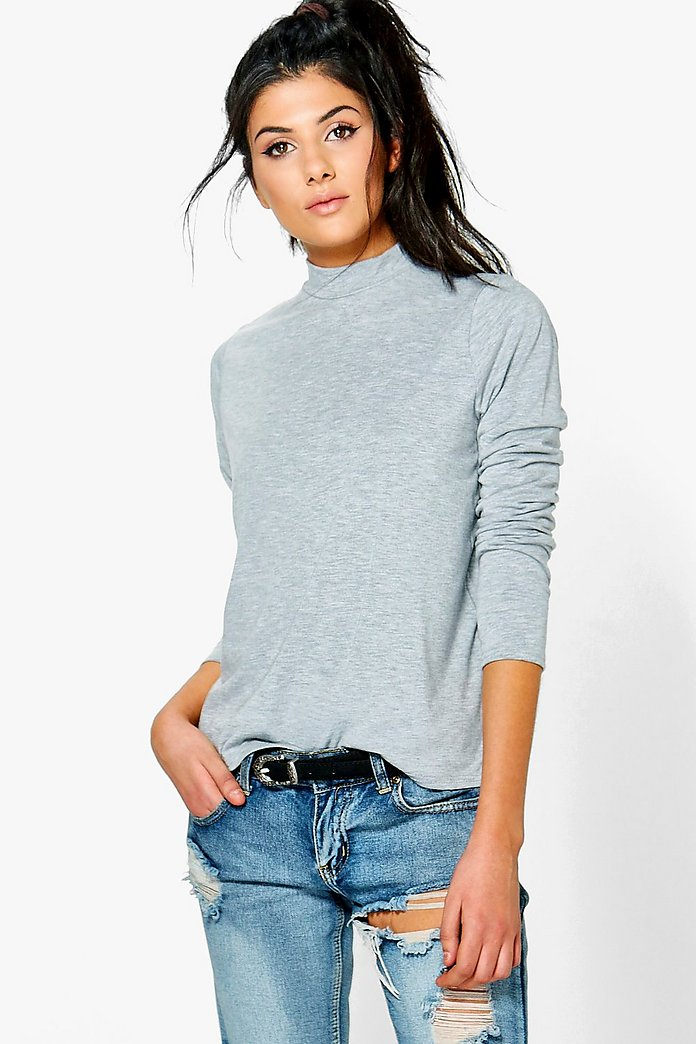 Eliza Oversized Turtle Neck T-Shirt