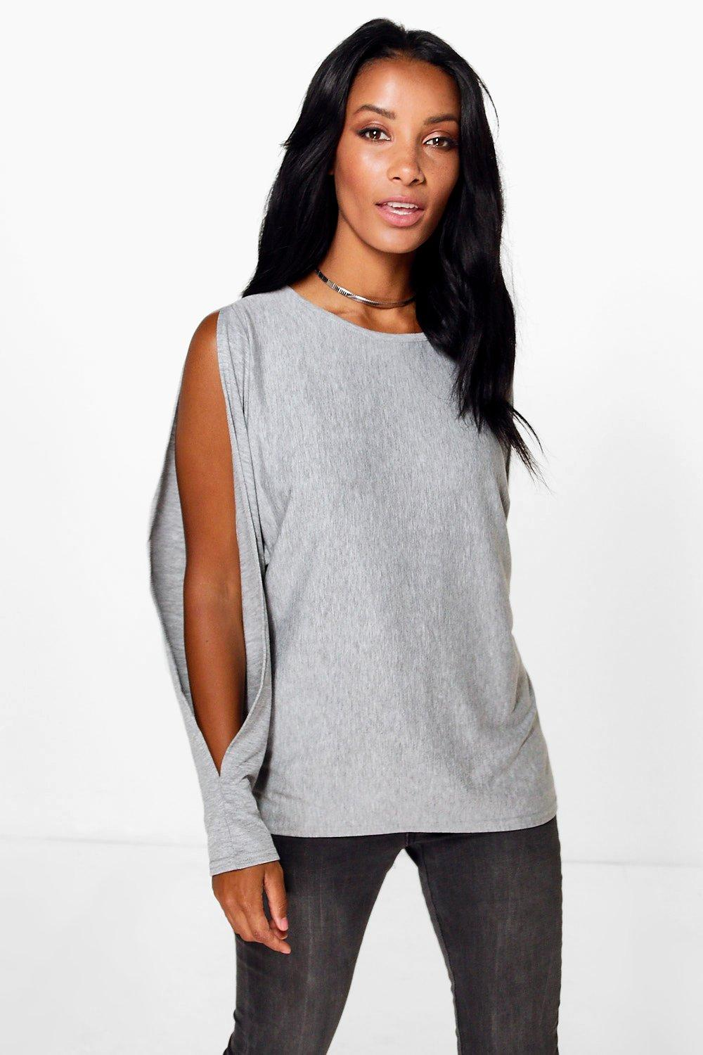 Rachel Oversized Split Long Sleeve T-Shirt