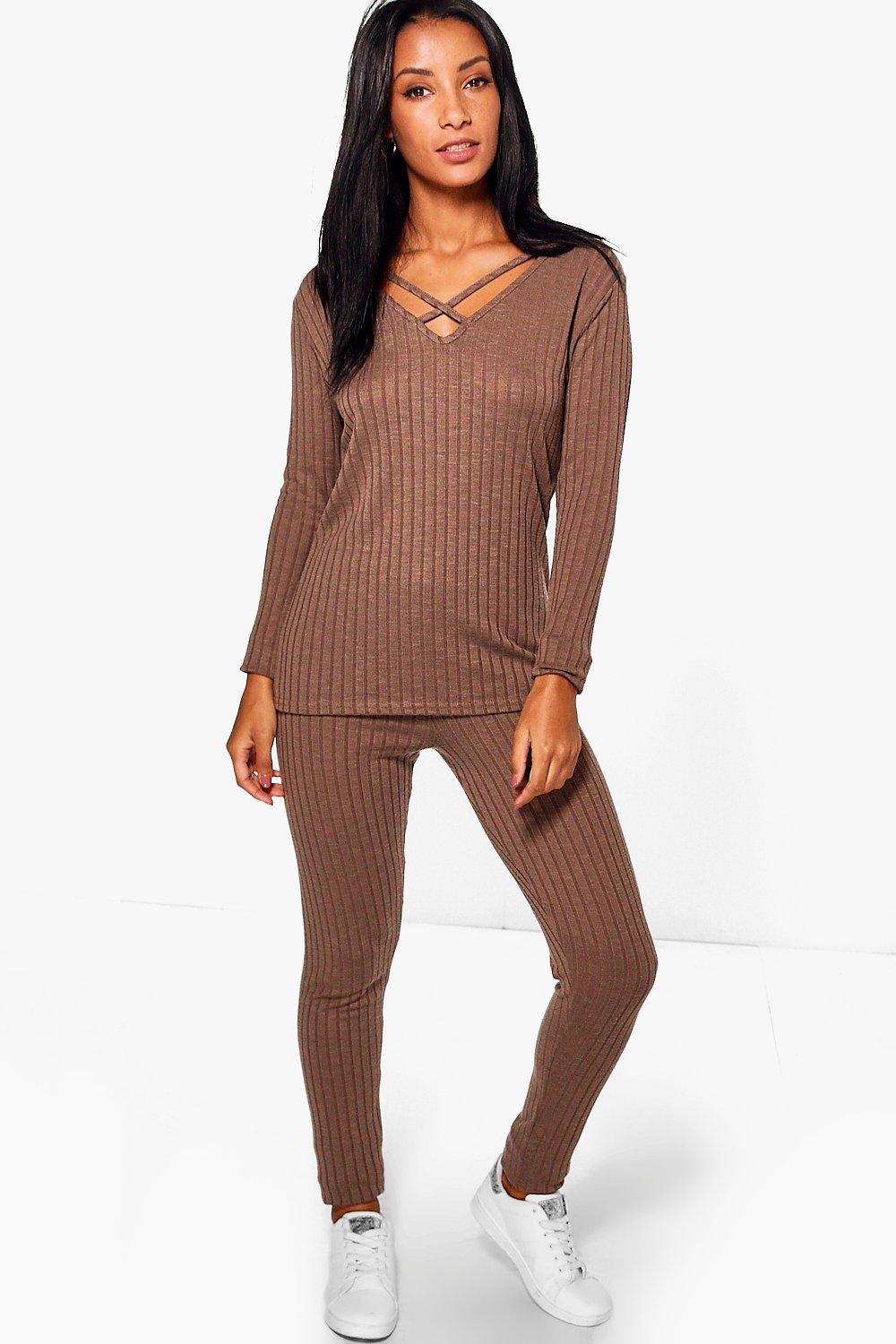 Sadie Strappy Jumper & Leggings Loungewear Set