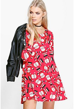 Eve All Over Father Christmas Swing Dress