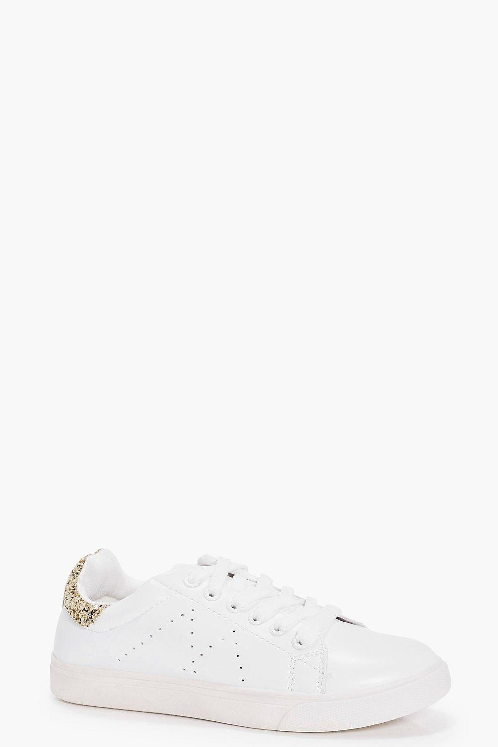 Laura Glitter Back Lace Up Trainer