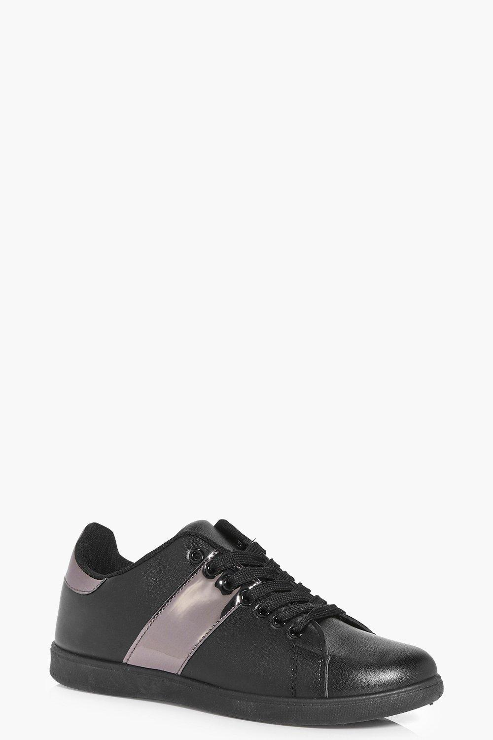 Ellie Metallic Stripe Lace Up Trainer