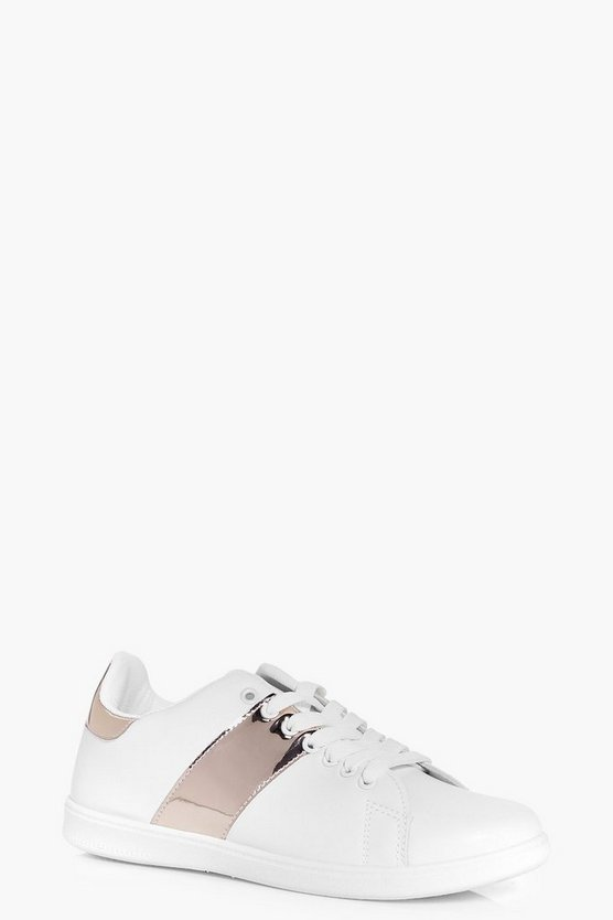 Jemima Metallic Stripe Lace Up Trainer