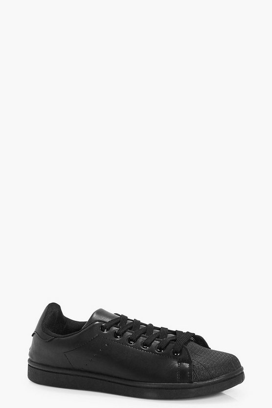 Emma Contrast Toe Lace Up Trainer