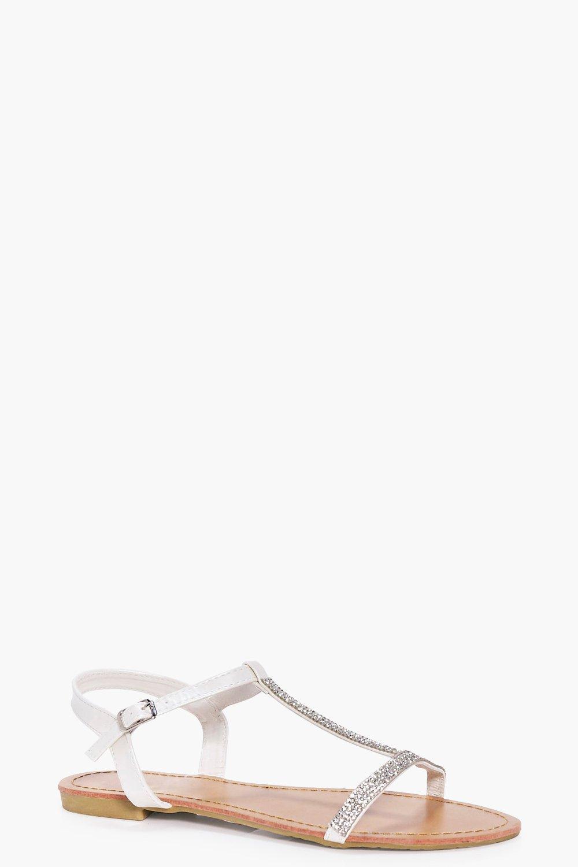 Lizzie T Bar Diamante Sandal