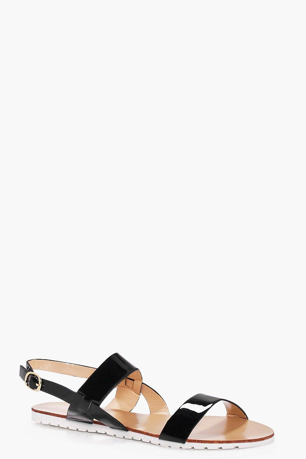 Kara Two Part Flat Sandal