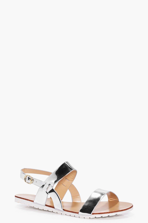 Kara Two Part Flat Sandal