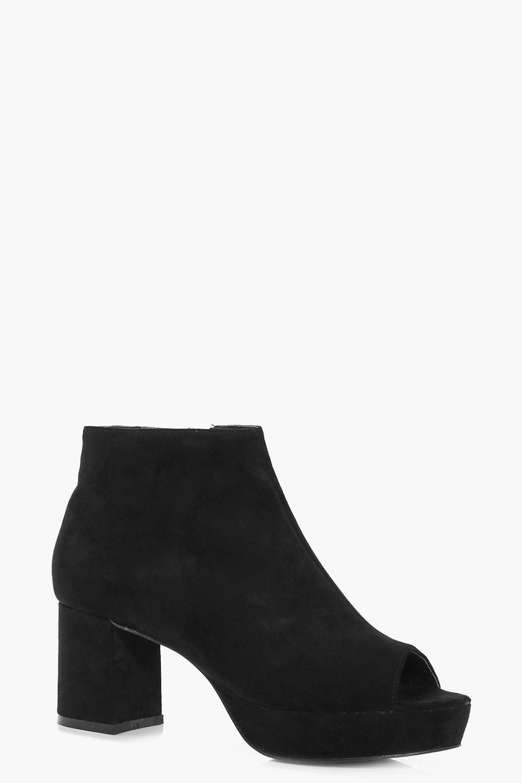 Robyn Peeptoe Platform Shoe Boot