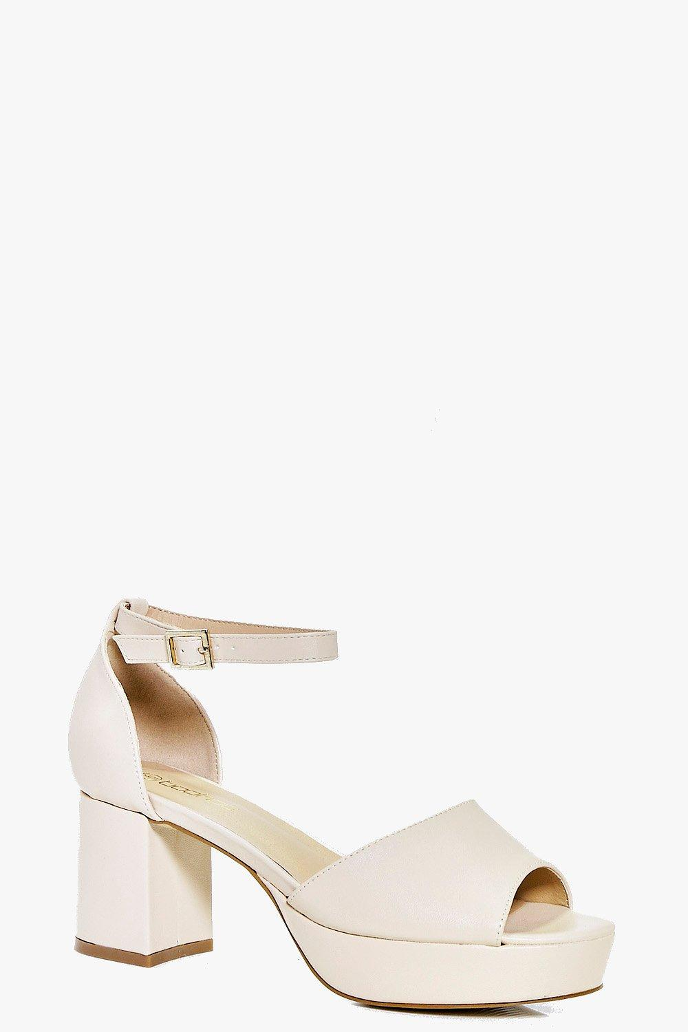 Claire Two Part Peeptoe Platform