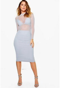 Evelyn 3pc Bralet Skirt & Mesh Dress Co-Ord