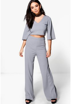 Willow Choker Crop & Wide Leg Trouser Co-Ord