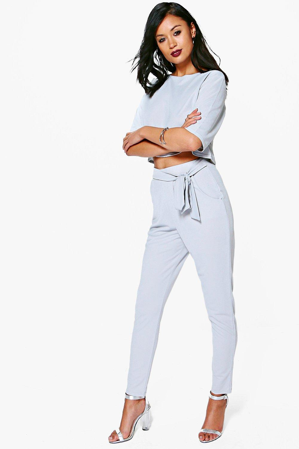 Katy Tie Waist Trouser & Shell Top Co-ord