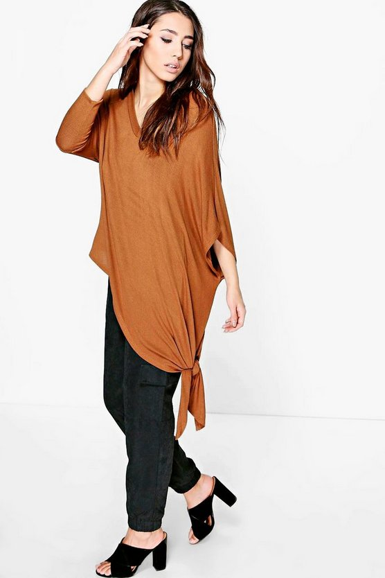 Lucy Fine Knit Asymmetric Jumper