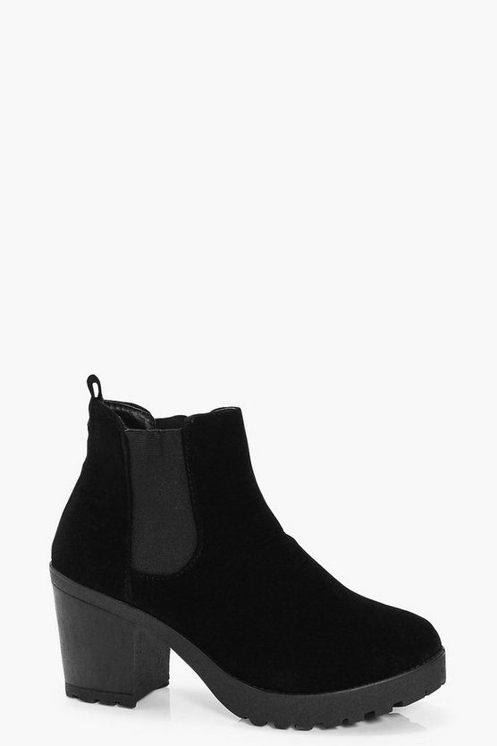 Katie Chunky Sole Chelsea Boot