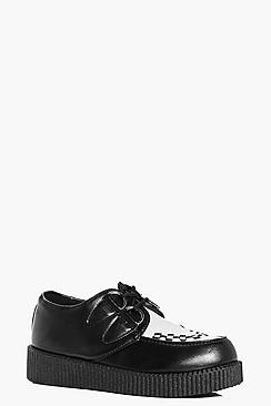 Nancy White Contrast Creeper Shoe