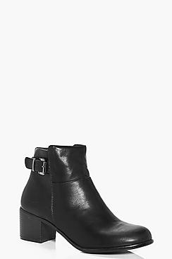 Kara Buckle Trim Ankle Boot