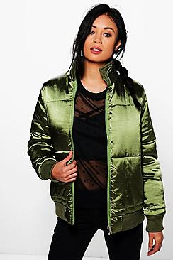 Lacey Satin Padded Jacket