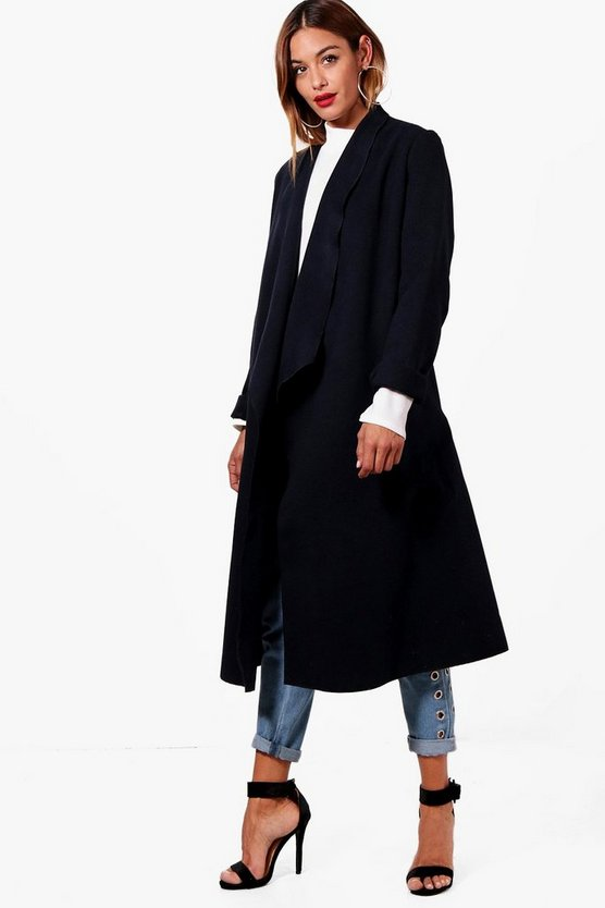 Waterfall Wool Look Duster
