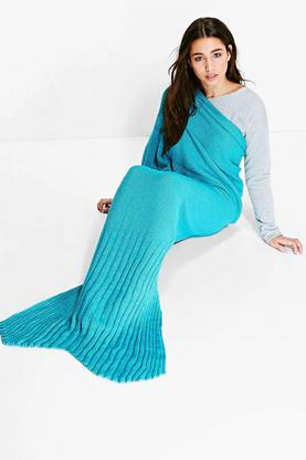 Mixed Tail Knitted Mermaid Tail Blanket