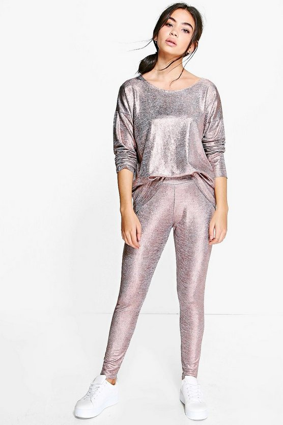 Niamh Metallic Loungewear Set