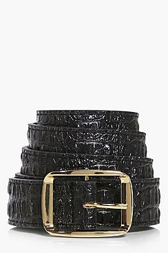 Faith Square Buckle Boyfriend Belt