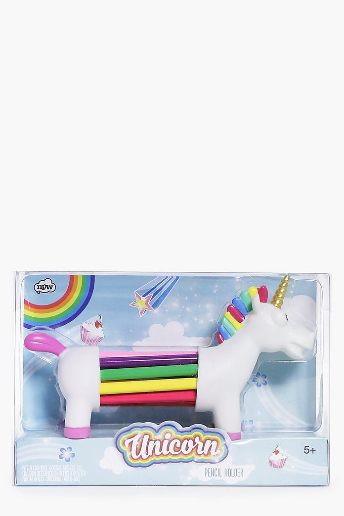 Unicorn Rainbow Pencils With Holder