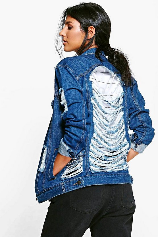 Sully Multi Ripped Distressed Denim Jacket