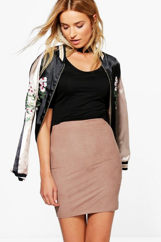 Tamison Suedette Stretch Mini Skirt