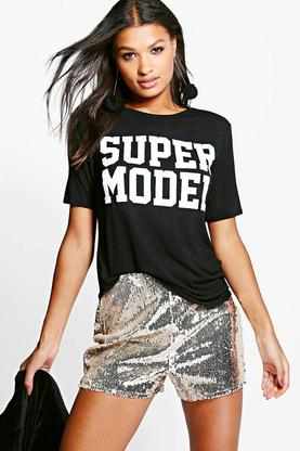 Harriet Supermodel Slogan Tee