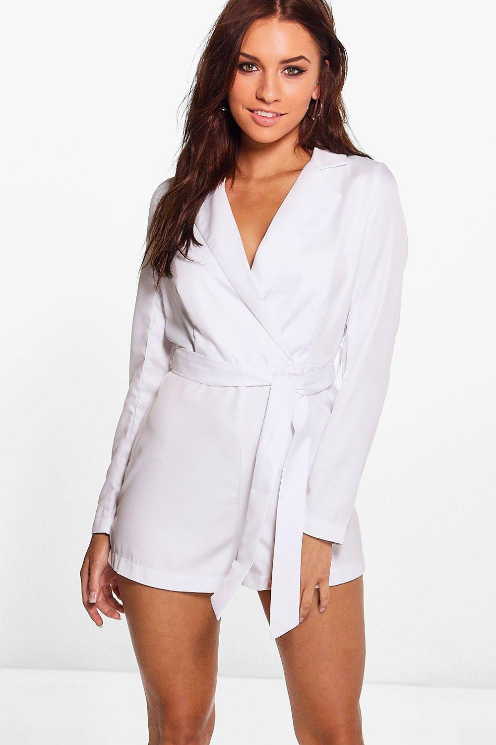 Anna Collared Tailored Belted Playsuit