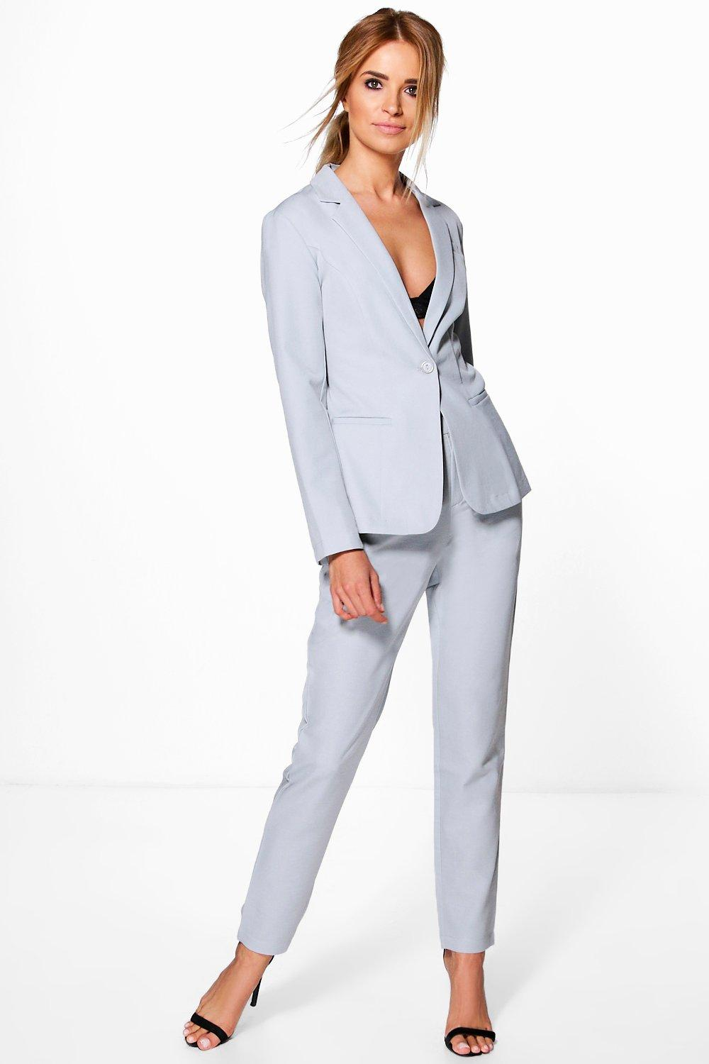 Heidi Tailored Button Woven Blazer