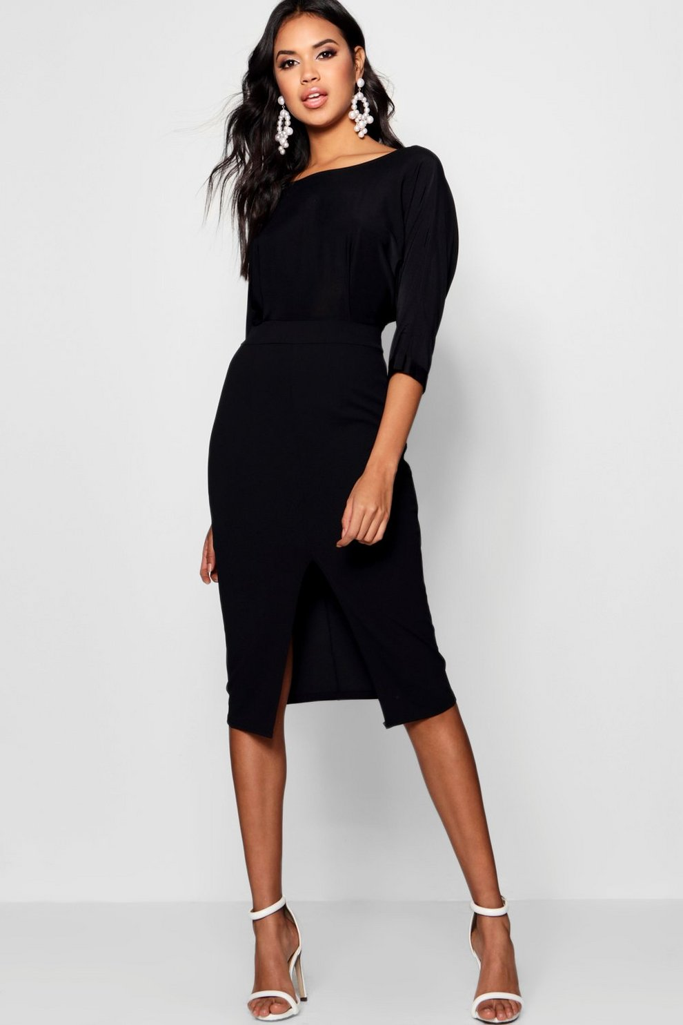 Boohoo Slinky Kimono Sleeved Midi Dress Low Shipping Free Shipping Purchase All Size Visit New Sale Online lvQ1H