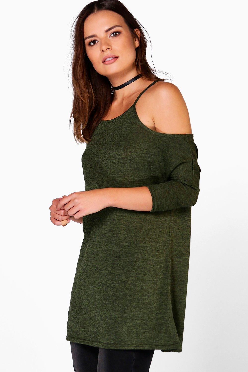 Darcy Knitted Cold Shoulder Top
