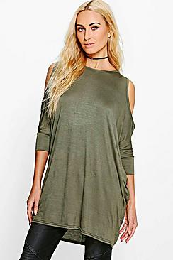 Christina Cold Shoulder Batwing T-Shirt