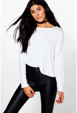 Beth Basic Oversized Batwing Top